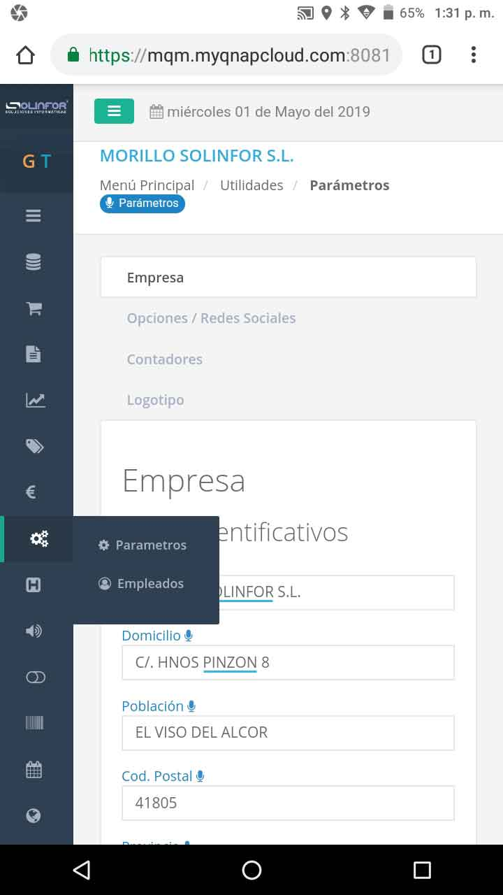 Servicios informáticos | TPV comercio | TPV hostelería | Control de jornada laboral